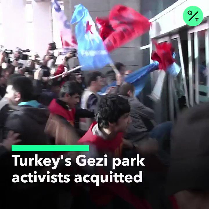 🇹🇷 Turkeys Gezi Park activists who took part in anti-government protests in 2013 have been acquitted of terror charges