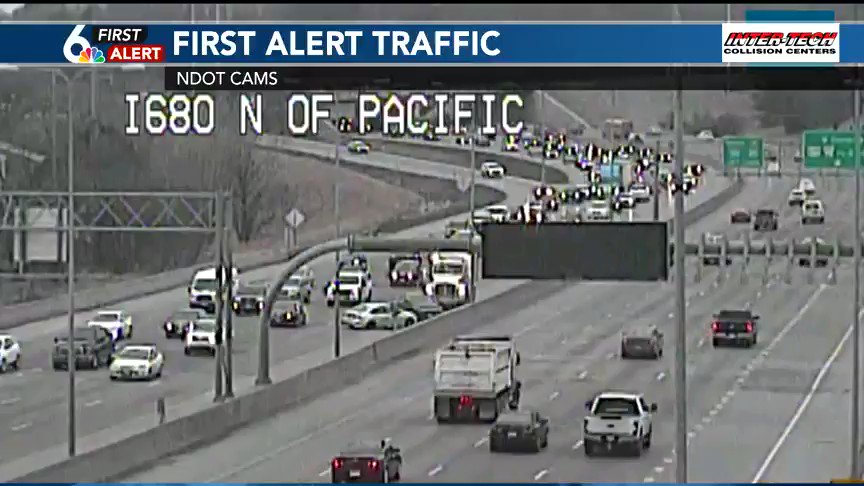 A crash is blocking the left lane and shoulder on 680 NB near Pacific right now. Possibly 3 vehicles involved. @wowt6news #FirstAlertTraffic