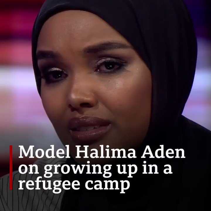 """""""Refugees have so much to give.""""Model Halima Aden reflects on growing up in a refugee camp  More on the refugee crisis: http://bit.ly/2HSwicR"""