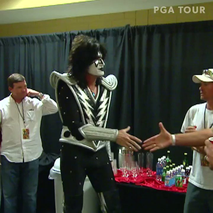 That time some TOUR pros hung out with KISS @PuertoRicoOpen... #TOURVault