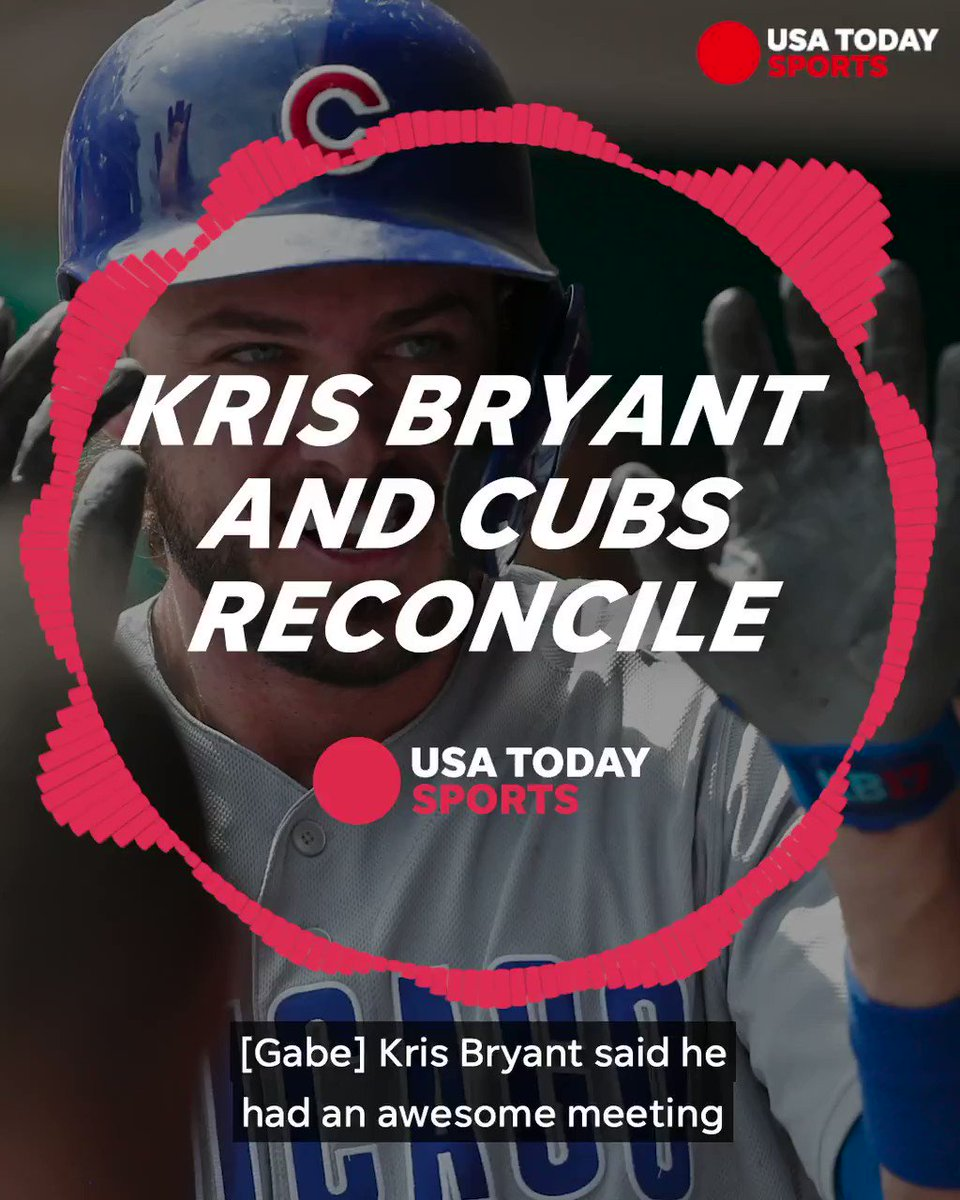 It appears Kris Bryant and the Cubs have made up.