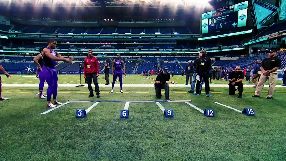 """The #NFLCombine, where world records are broken 😳  On this day, @Byron31Jump soared to 12'3"""" in the broad jump.   📺: 2020 #NFLCombine starts Thursday 4pm ET on @nflnetwork"""