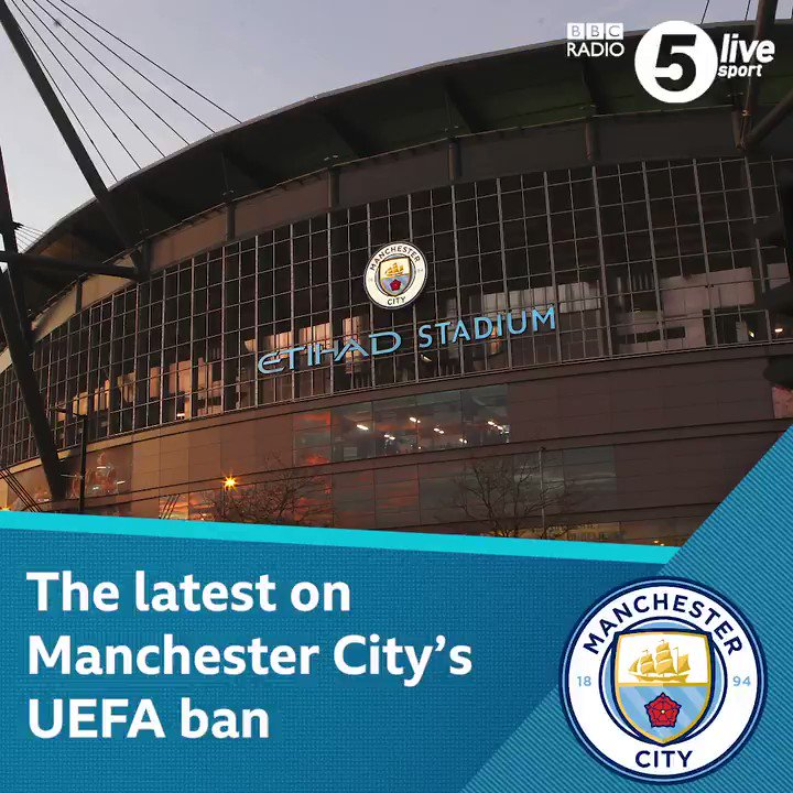 🗣️: @sistoney67 has been finding out the latest news that surrounds @ManCity and their UEFA ban.Giving @markchapman an insight to where the club are currently up to with the allegations. ✍️ Listen live here 👇📲⚽️http://bbc.in/38yG0N9 #bbcfootball #ManCity