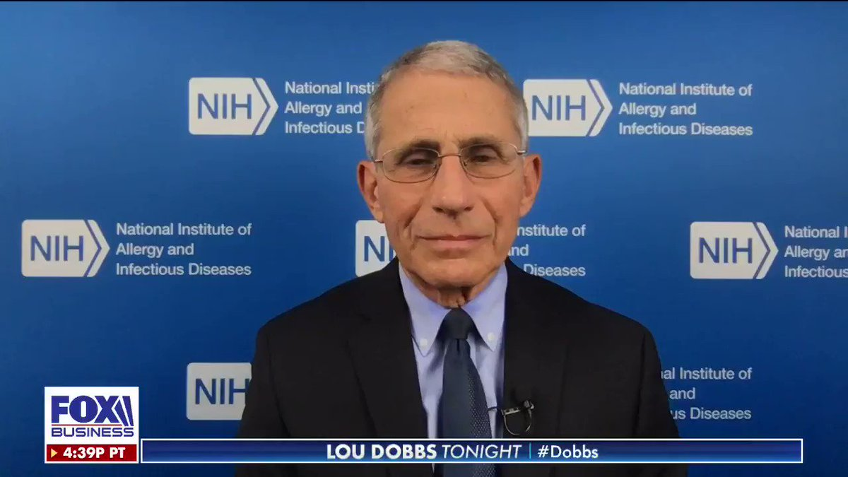 Dr. Anthony Fauci says health officials are working to control the #Coronavirus contagion while it is on the brink of becoming a pandemic.  #VoteBlueNoMatterWho