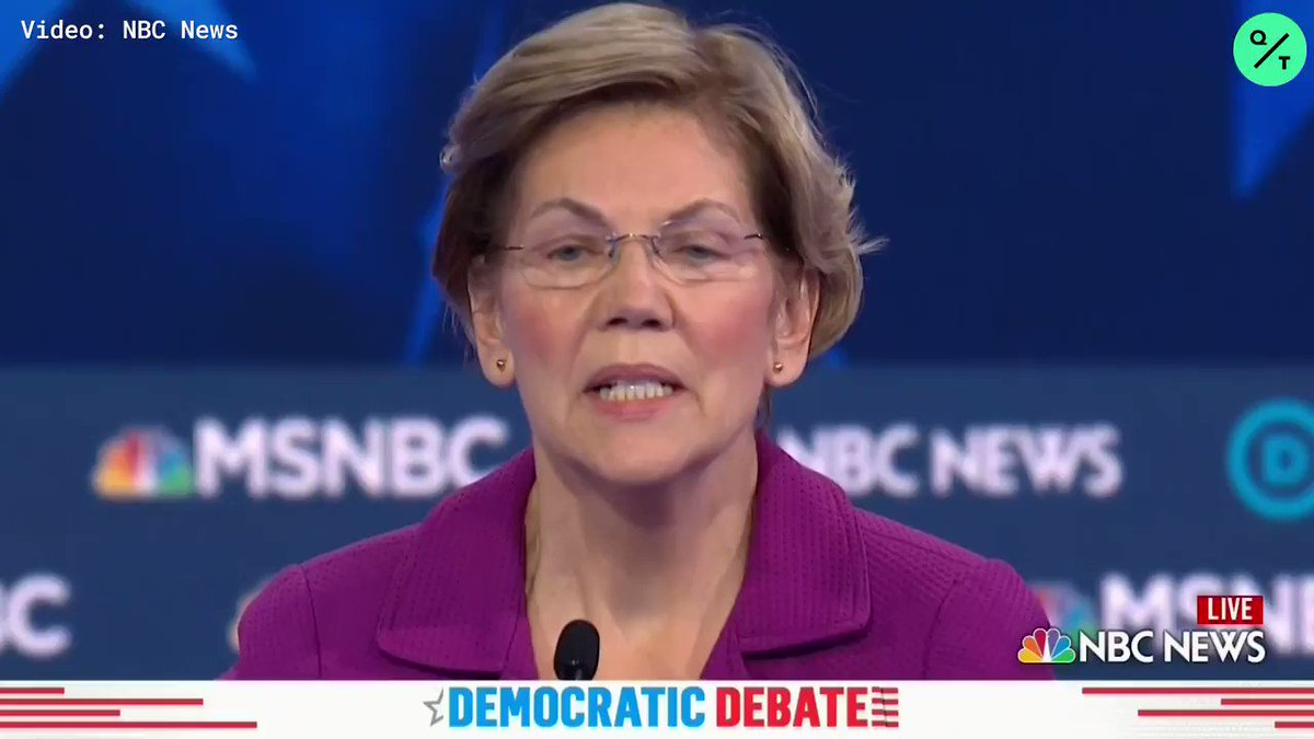 Image for the Tweet beginning: WATCH: Sen. Warren at the