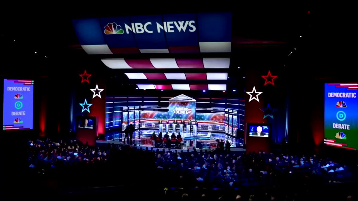 Image for the Tweet beginning: Democratic presidential candidates delivered blow