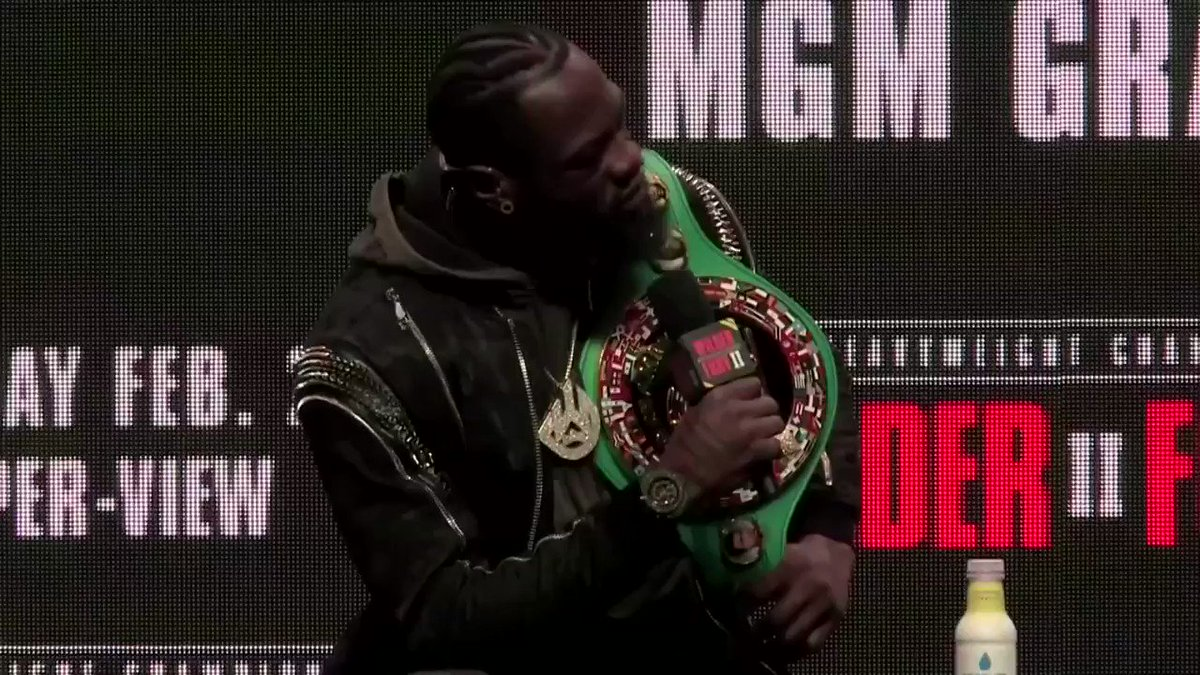 Image for the Tweet beginning: Deontay Wilder and Tyson Fury
