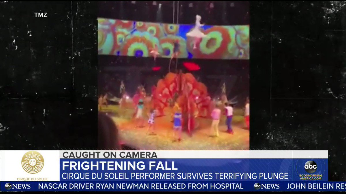 Cirque Du Soleil aerial performer survives terrifying fall during Beatles-themed show. @giobenitez reports.