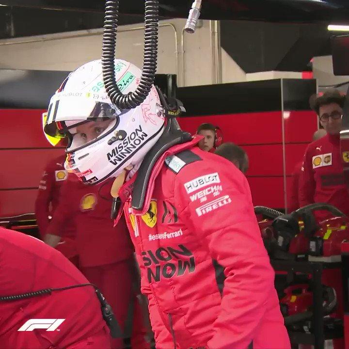 Back where he belongs...  #F1Testing @ScuderiaFerrari