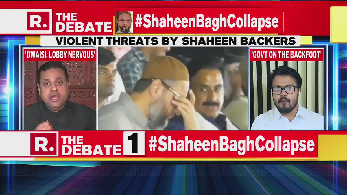 """Where I mention @Atheist_Krishna and quote his brilliant point: What if a BJP leader had said """"Ab waqt aa gaya hai. Hum 100 crore un 15 crore pe bhari honge.""""Krishna's observation was debated on @republic for the next 10 mins.#ShaheenBaghCollapse"""
