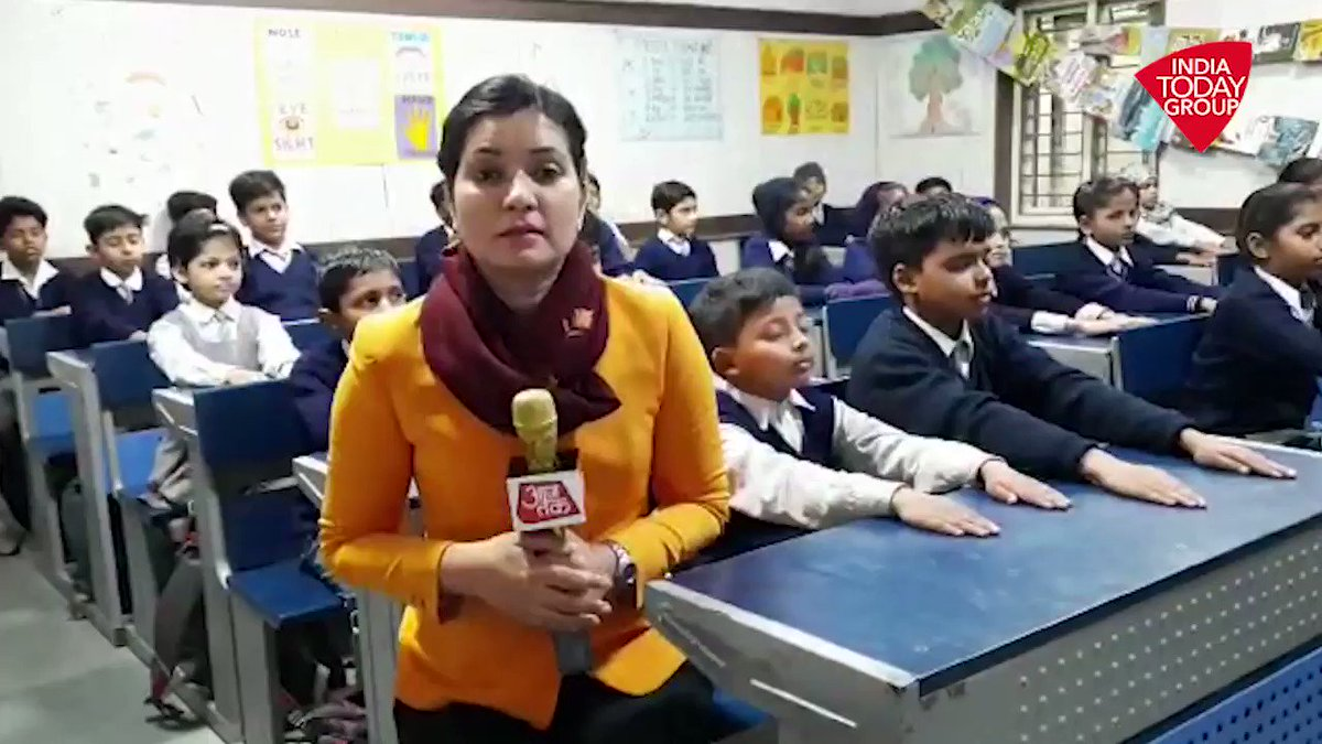 "#NaMosteTrump ""We Welcome you Melania Trump"" - Say #Delhi government school students. Children and Teachers gear up to welcome @FLOTUS. @poojashali visits one 'Happiness Class'  to find out what is in store. More #ReporterDiary : http://bit.ly/IndiaTodaySocial …"