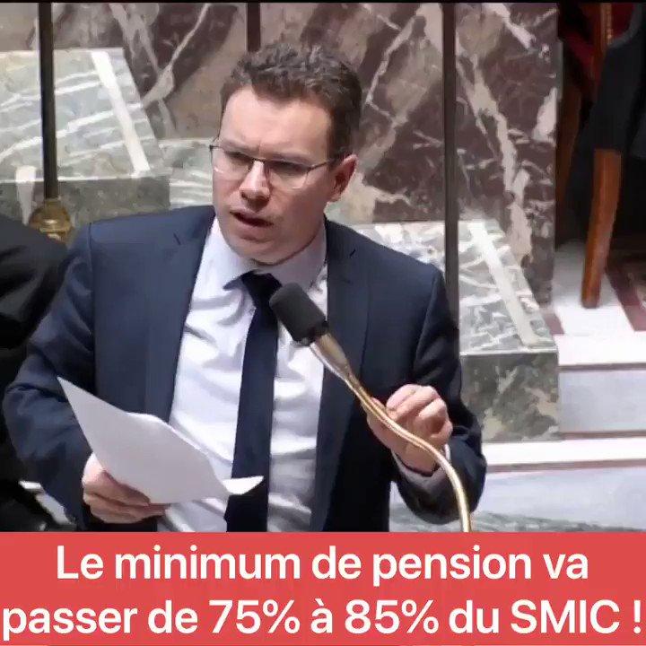 """Image for the Tweet beginning: """"Le minimum de pension va"""