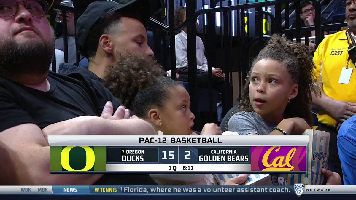 """""""She's got that winning mentality."""" @StephenCurry30 showed support for @sabrina_i20. (via @Pac12Network)"""