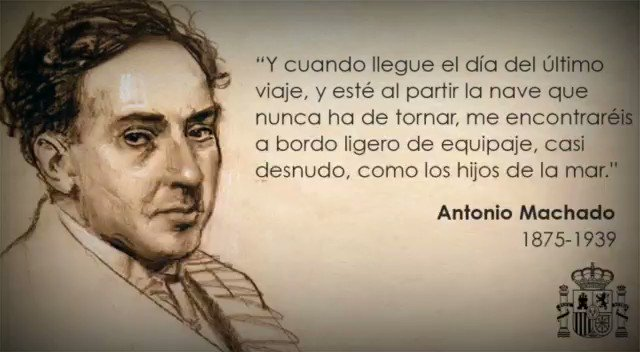 Image for the Tweet beginning: Hace 81 años, Antonio Machado