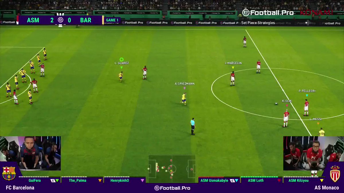 What a goal!!   @asmonacoesports make it 3-0 vs @fcbesports and take all three points!  Game two is on now! Tune in to see if the Barca boys can get anything out of their #Matchday5  https://youtu.be/EZBsfW43Vac http://facebook.com/PES #eFootballPro
