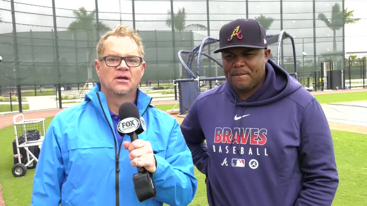 """""""He's on a different level.""""  @andruwjones25 discusses @ronaldacunajr24 and working with this @Braves coaching staff."""