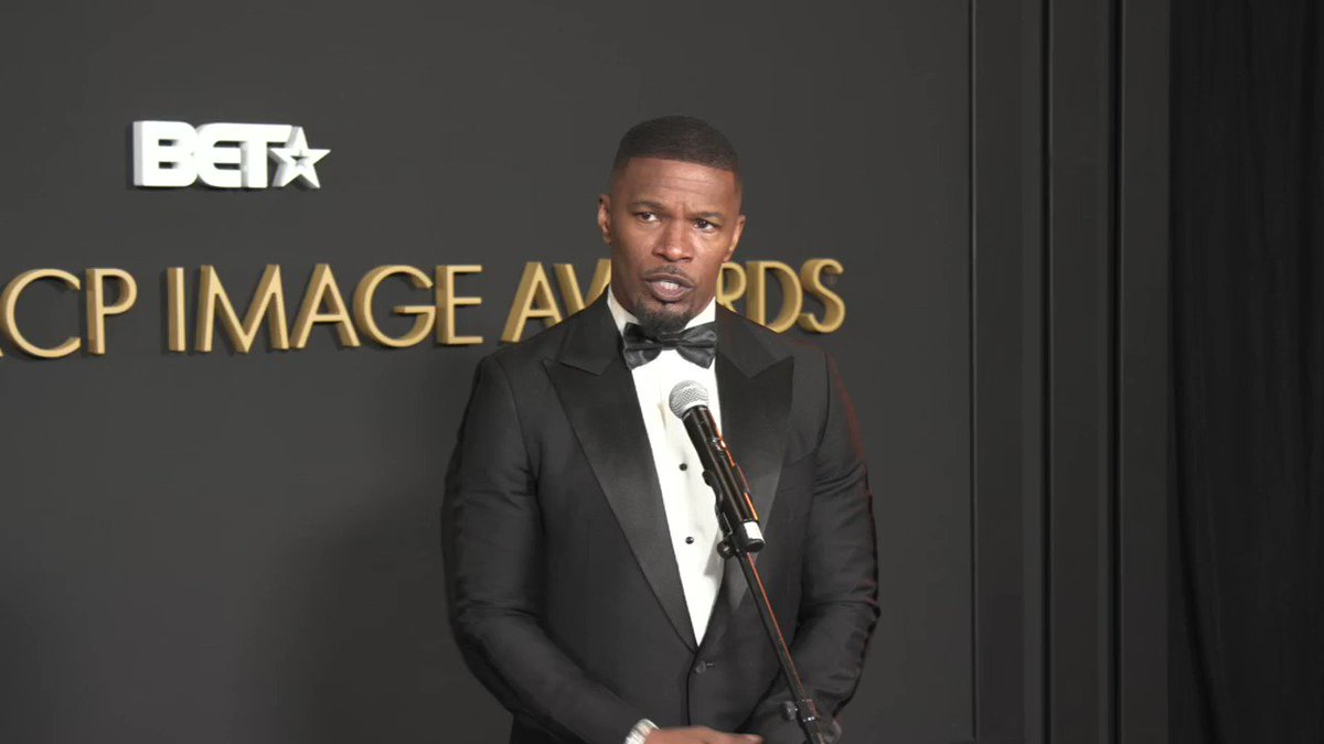 """Jamie Foxx on the importance of the #NAACPImageAwards """"I'm going out to do my stand-up, if I don't look out and see 10,000 black people, I'm in trouble. The black people got to laugh at me fist, and then it goes out."""""""