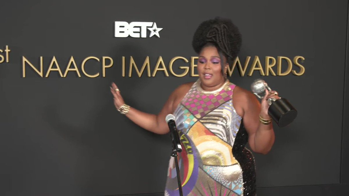 """Lizzo on the portraying a positive body image: """"This isn't my brand, this is who I am."""" #NAACPImageAward"""