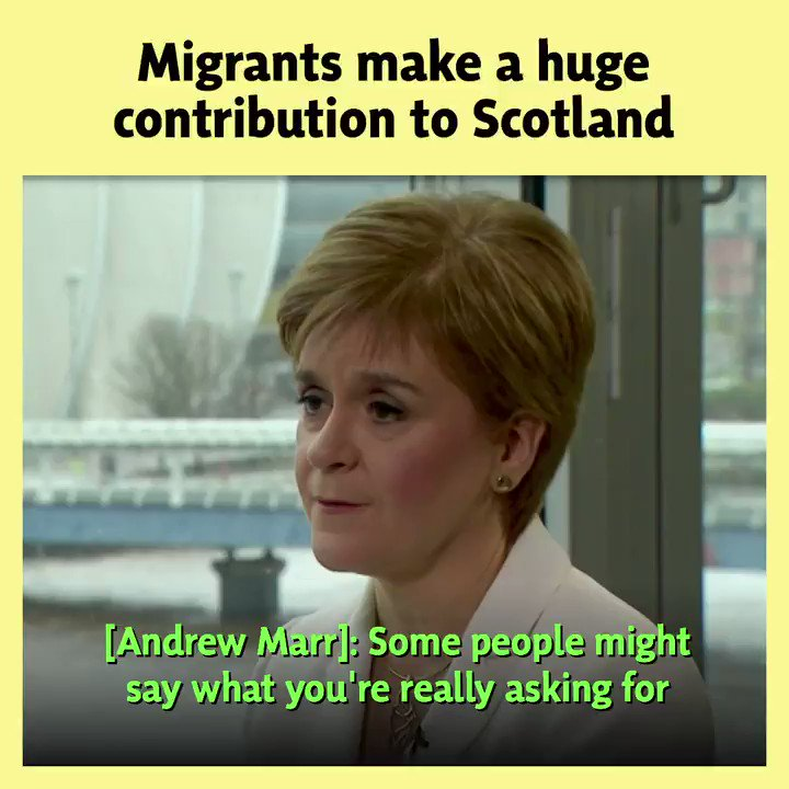🔎 Boris Johnsons immigration plan is morally wrong and economically illiterate. 🌍 Migrants make a net contribution to Scotlands economy and the @scotgov must have the powers to build a more welcoming society. #Marr