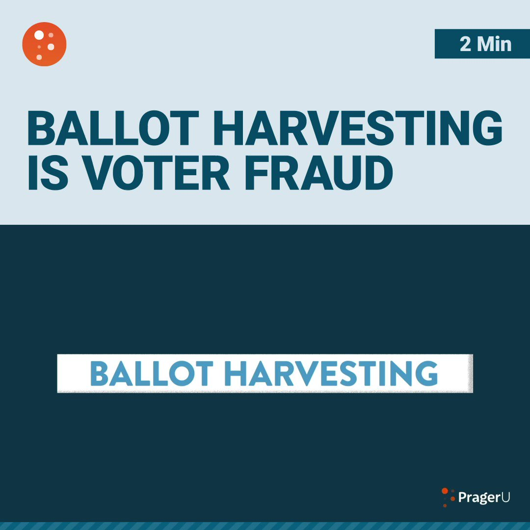 Image for the Tweet beginning: Ballot harvesting is voter fraud!  Did