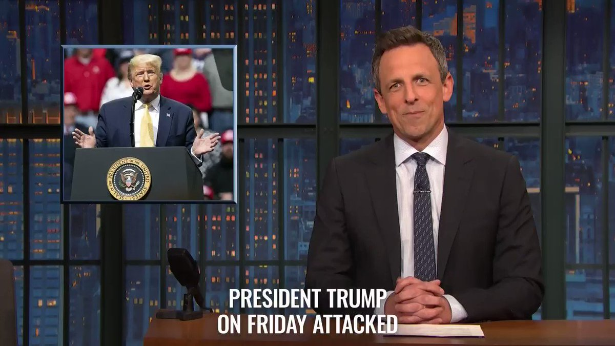 Image for the Tweet beginning: From tonight's #LNSM: Trump may