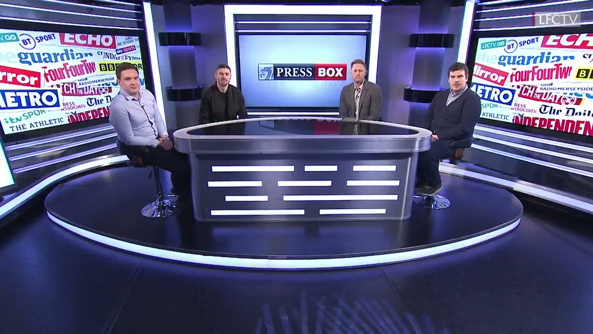 One @premierleague game down, another to go on Saturday 🔴  Stats, records and the #FACup clash fast approaching... There's plenty to discuss on this week's Press Box 🔎  📺 Join @markbenstead and the panel, tonight at 19:00 GMT: http://video.liverpoolfc.com