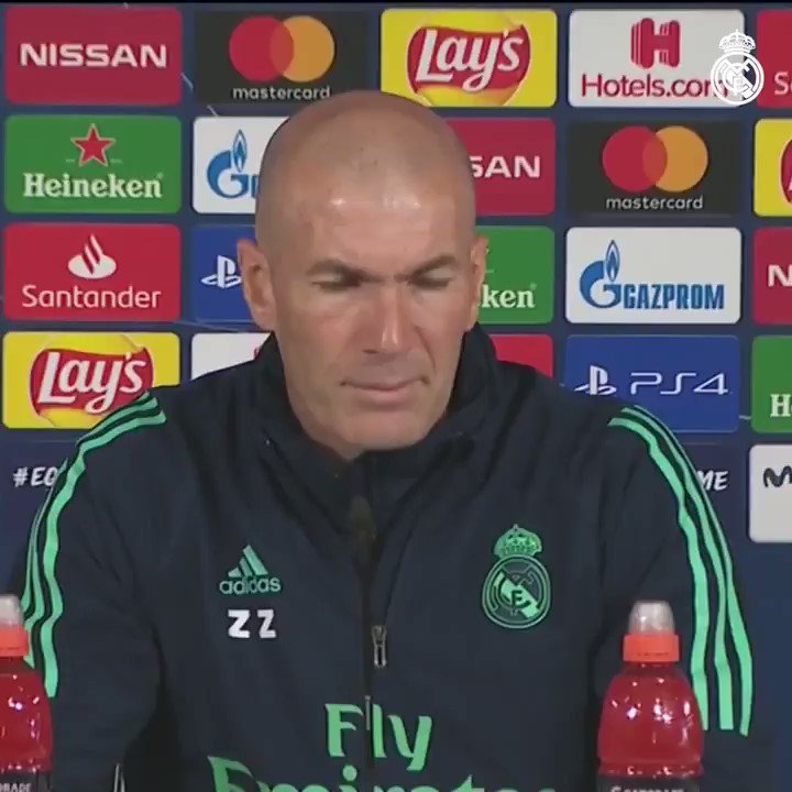 🎙💬 Listen to what #Zidane had to say in his pre-@ManCity press conference at #RMCity!  #RMUCL | #HalaMadrid
