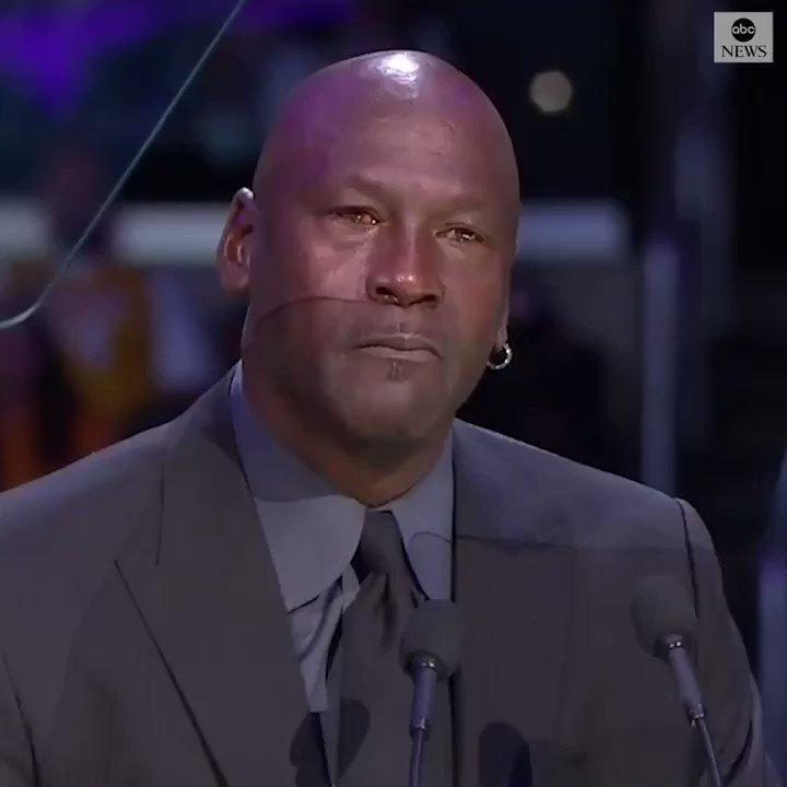 Replying to @Ballislife: 1 year ago today, Michael Jordan's moving speech about Kobe Bryant