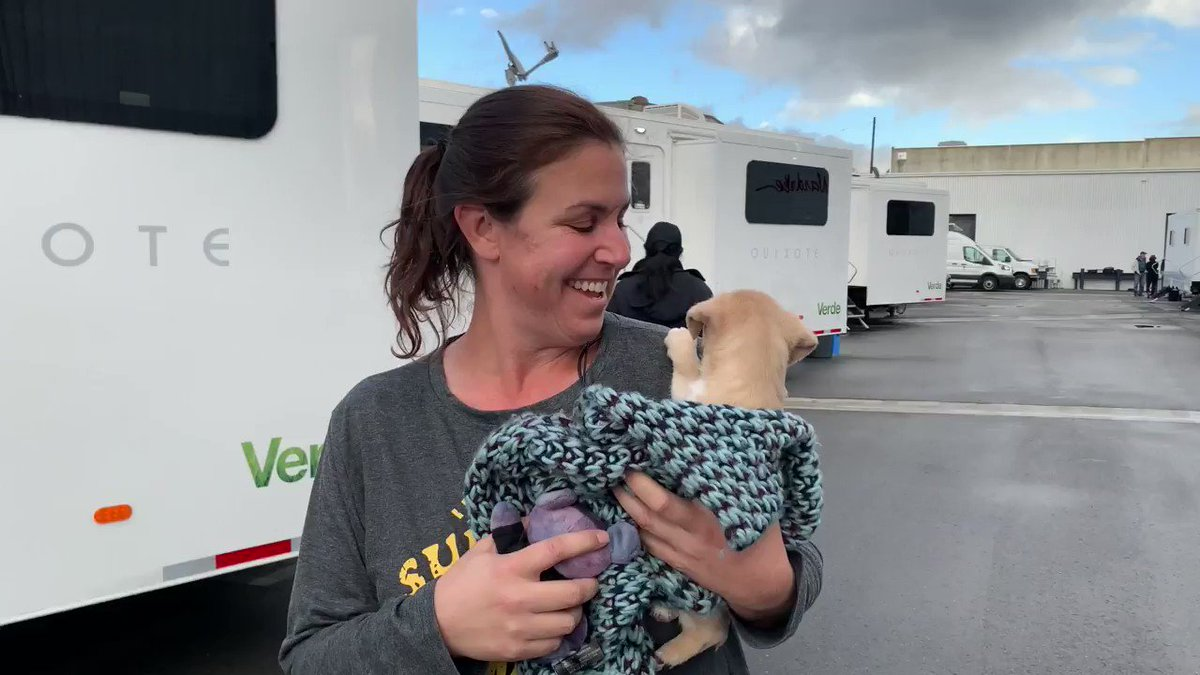 Meet Lacey! Our #Stumptown puppy, who was rescued by crew member Jennifer!