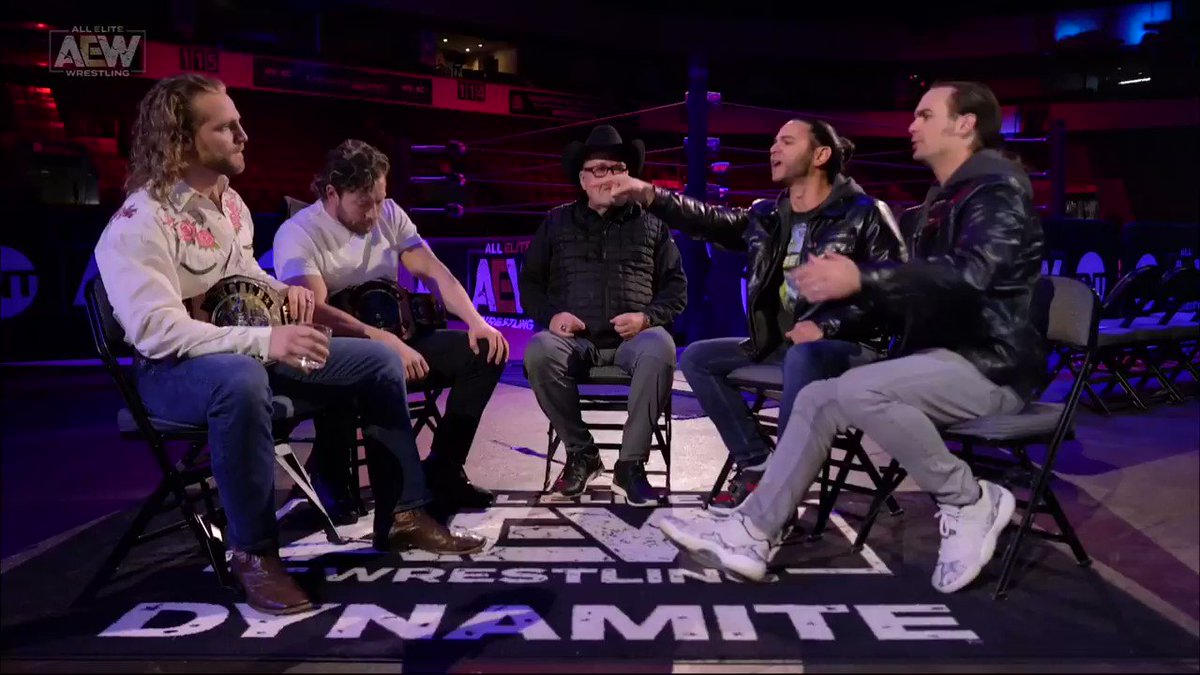"""""""You were a jobber in #RingofHonor, we bought you into the #BulletClub and look at you now - You're a star"""" - #NickJackson on @theAdamPage. Watch #AEWDynamite NOW on @TNTDrama 8e/7c #AEWonTNT @AEWonTNT"""
