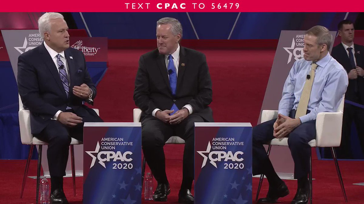 .@RepMarkMeadows shares why he believes that @realDonaldTrump will get reelected. #CPAC2020