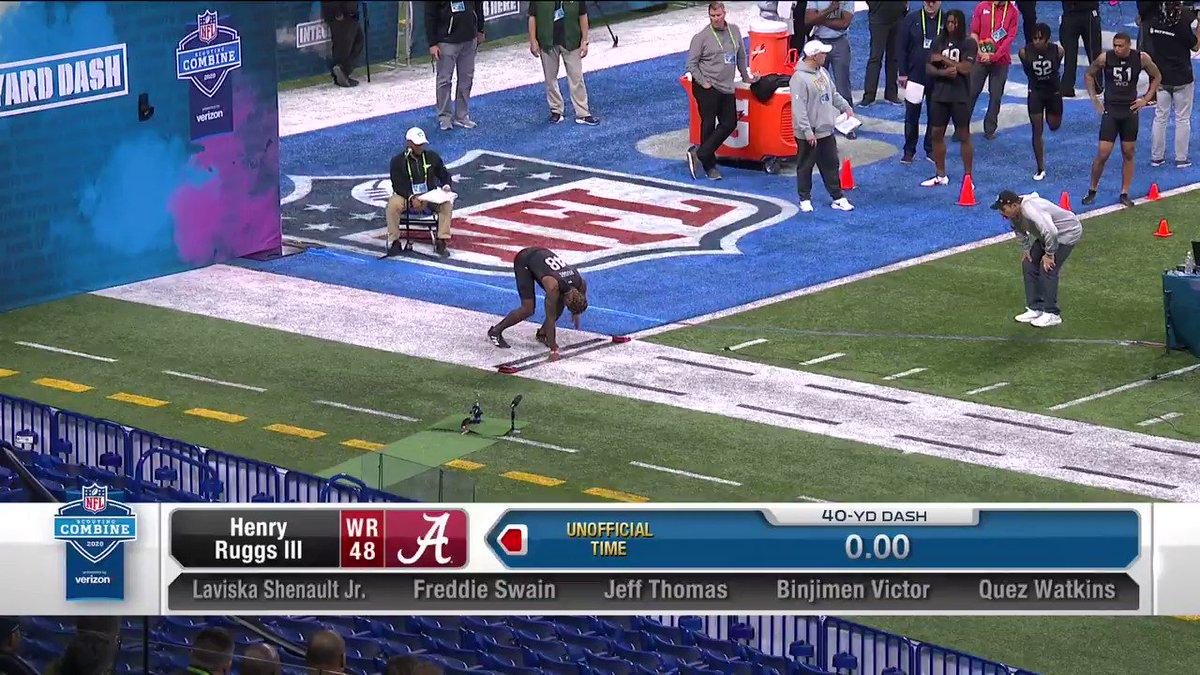 HENRY RUGGS III. 4.28u 🔥🔥🔥 @AlabamaFTBL   @__RUGGS 📺: #NFLCombine on @NFLNetwork