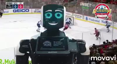 #RussianHeritageNight is coming to New Jersey on March 10 as Nikita Gusev and the @NJDevils take on Evgeny Malkin and the @Penguins @Promobot the cool #robot invites you to the game!  🇷🇺🇺🇸  🏒🥅