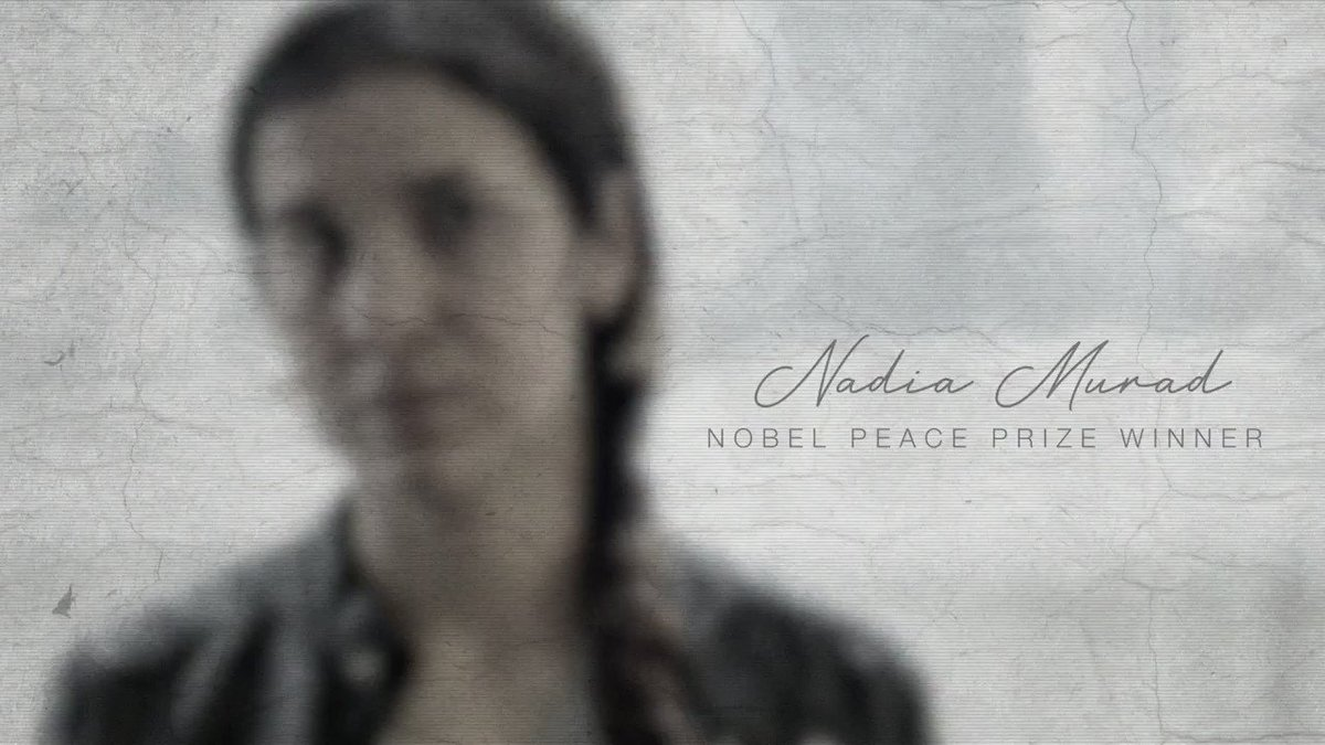 #InHerStory Nadia Murad, a former Daesh victim, fights to bring justice to Yazidis, especially abducted and enslaved women and children, and the many Yazidis whose fates remain unknown. Her strength and resilience are especially powerful weapons against Daeshs barbarism.