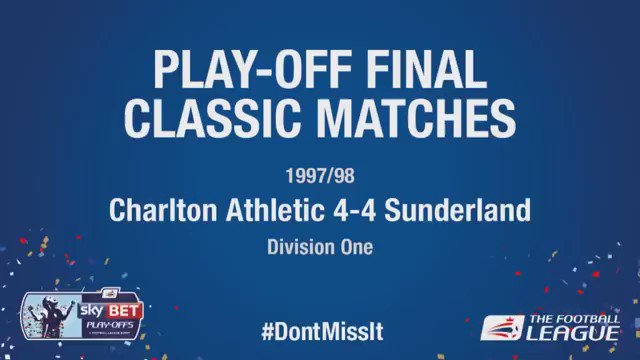 🗓 #OnThisDay in 1998. @CAFCofficial v @SunderlandAFC Was this one of the greatest-ever Play-Off Finals? #EFL | #EFLPlayOffs