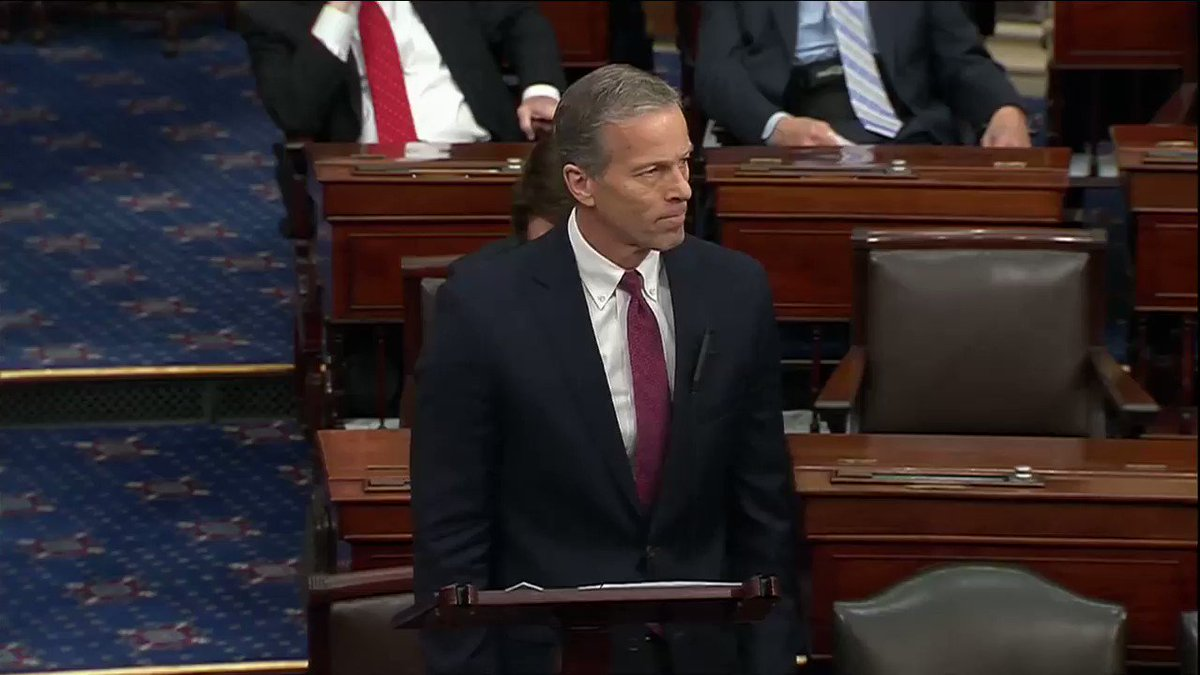 'The country is burning, and your side wants to play political games?' - @SenJohnThune