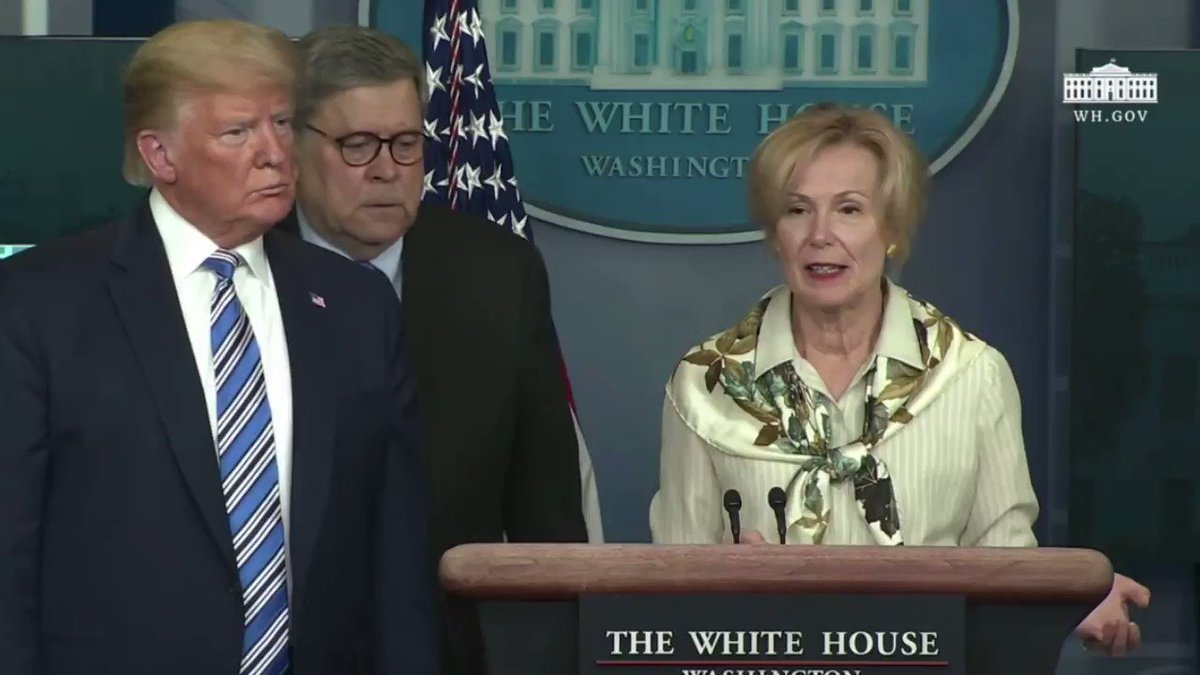 Watch how President @realDonaldTrump reacts when Dr. Birx reveals she had a low fever over the weekend... 😂😂😂
