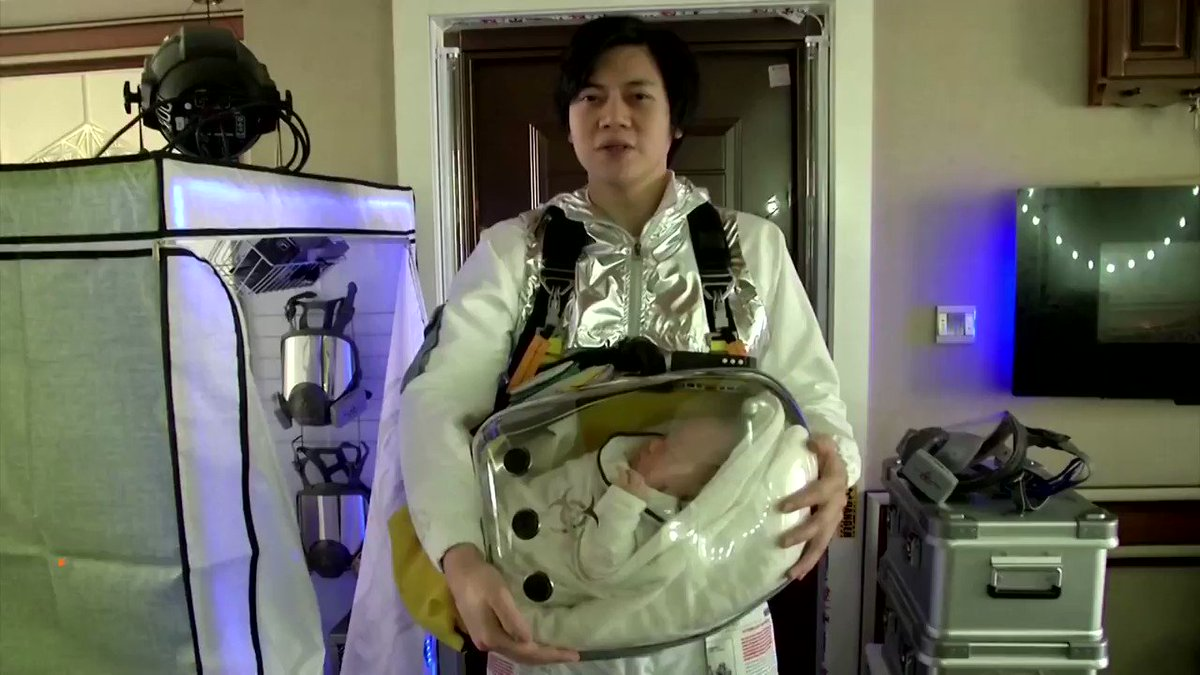 A Chinese father, who refashioned a cat carrier to make a 'baby safety pod' for his infant, hopes to mass-produce his design after dozens of people offered to buy the device https://reut.rs/2QLGo3N