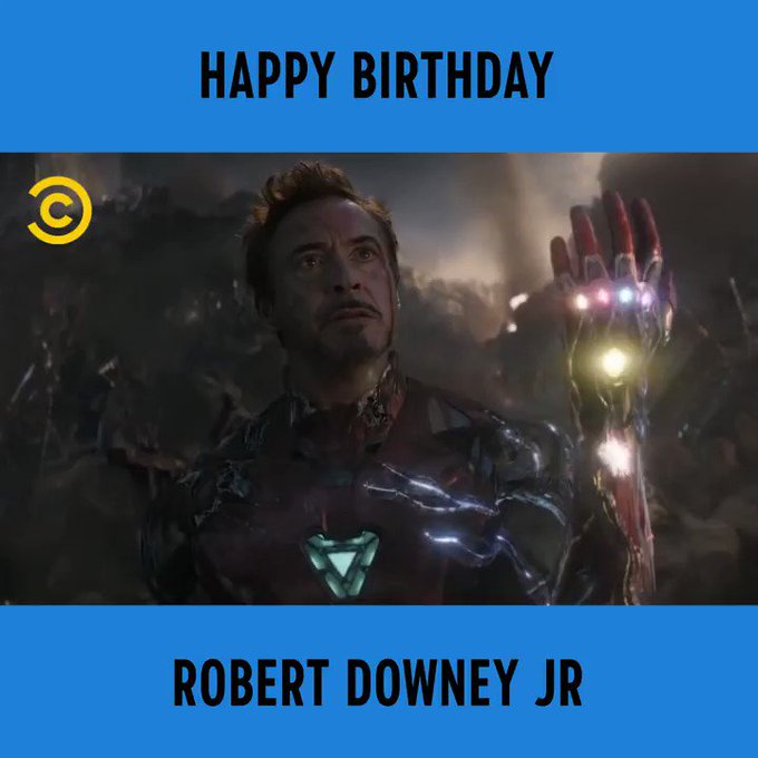 "\""I....Am...Iron Man.\""   Happy birthday Robert Downey Jr"