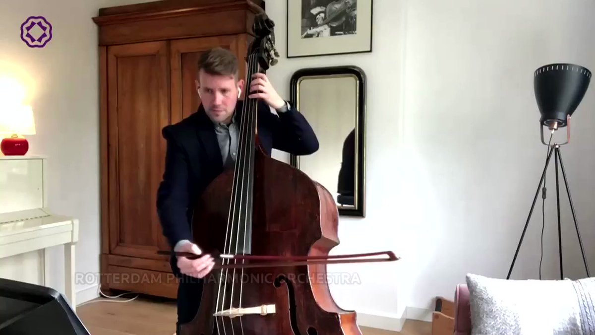 Musicians from the Rotterdam Philharmonic Orchestra virtually came together to play Beethoven's 'Ode to Joy' from their homes https://t.co/xyW9WmyRZK