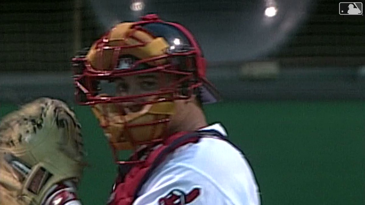 Here's a reminder that they used to put cameras on catcher's masks ... Epic.