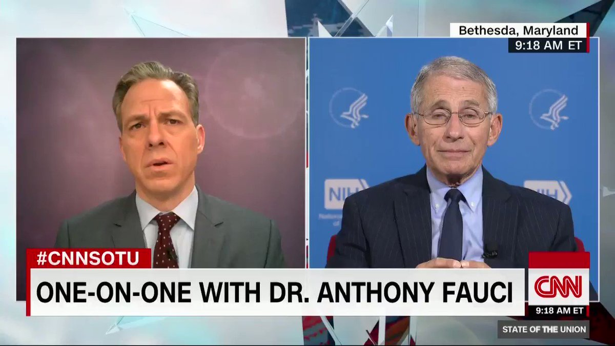 Fauci predicts over 100,000 Covid-19 deaths in the United States