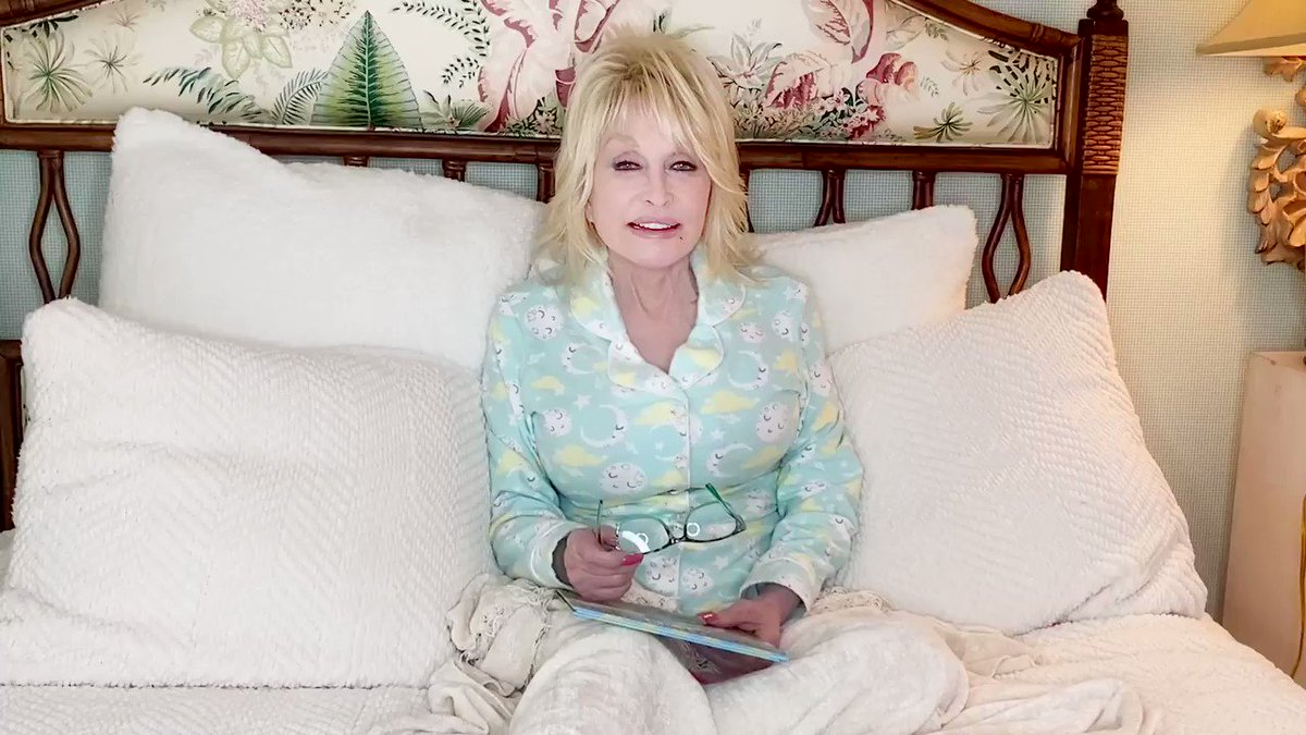 """Goodnight with Dolly"" is the ultimate #StayHome  and relax #WithMe  experience. 😴"