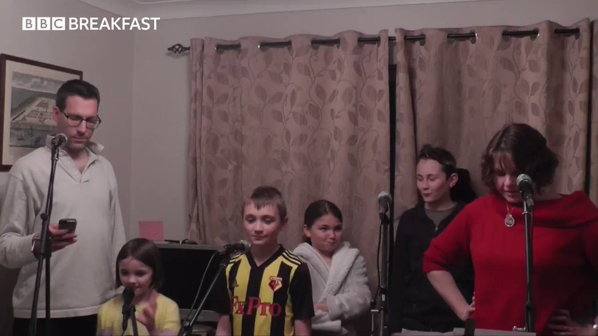 Watch this family perform a quarantine-themed rendition of a Les Misérables classic