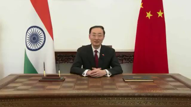 Today marks #70th anniversary of establishment of diplomatic ties b/t #China & #India. At this moment, it's imperative to recall original aspiration, carry forward spirit of good-neighborly friendship, explore on how to coexist with each other between major neighboring countries. pic.twitter.com/1YX3ge3m43