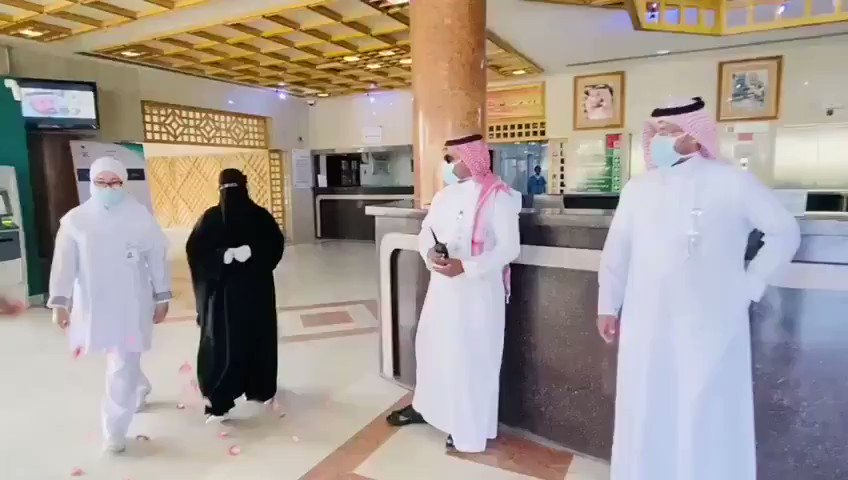 #VIDEO: Ministry of Health celebrates the recovery of the first #coronavirus case in Bisha town in southwestern #SaudiArabiapic.twitter.com/v4htFSHCmN