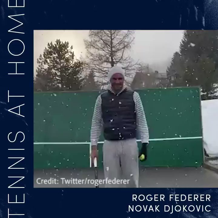 Wimbledon may be cancelled but #TennisAtHome with @rogerfederer and @DjokerNole will put a smile on your face 🎾🍳  #StaySafeStayHealthy #StayAtHome