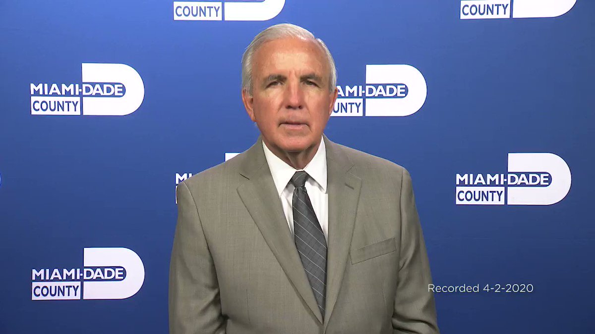 Important message from @MayorGimenez about #COVID19 today, April 2. #coronavirus