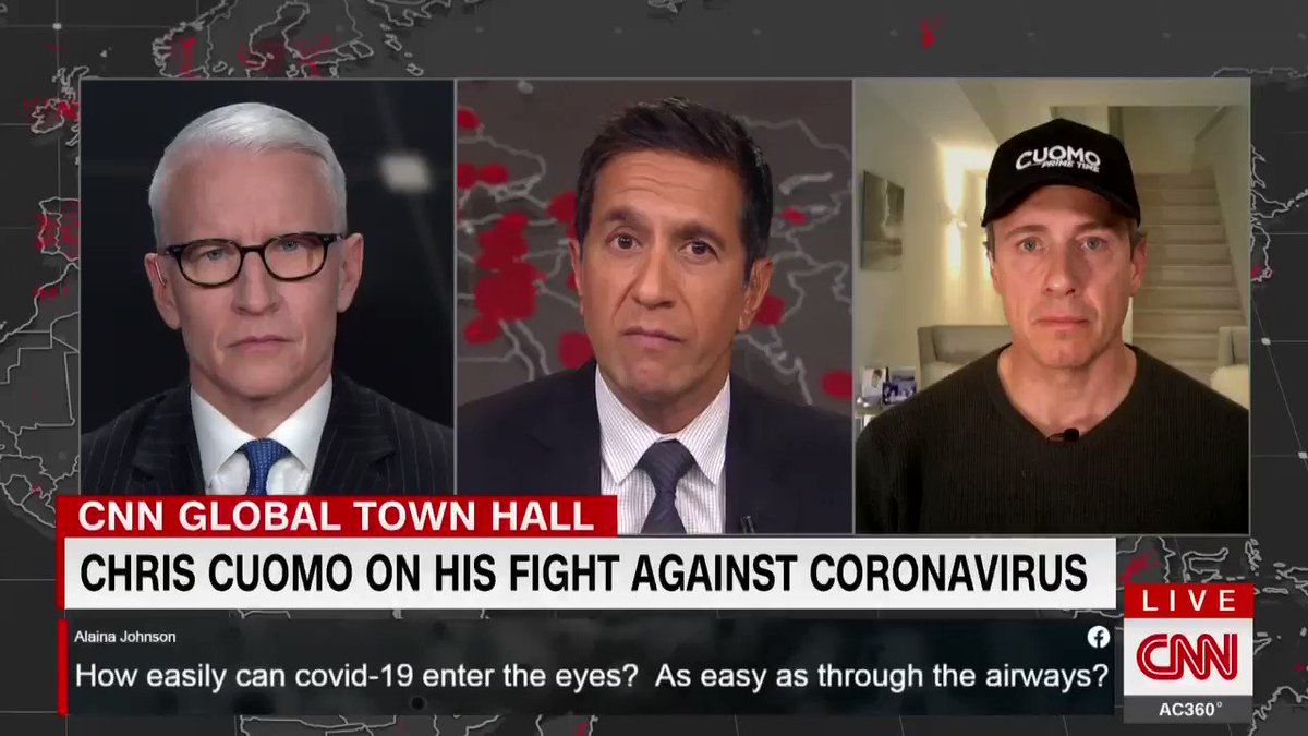 The beast comes at night as we know the health care workers have taking to call the virus ... I understand why. My fever has gone up a couple of degrees in the last 30 minutes. Nights are tough. - @ChrisCuomo, who tested positive for Covid-19, discusses his symptoms.