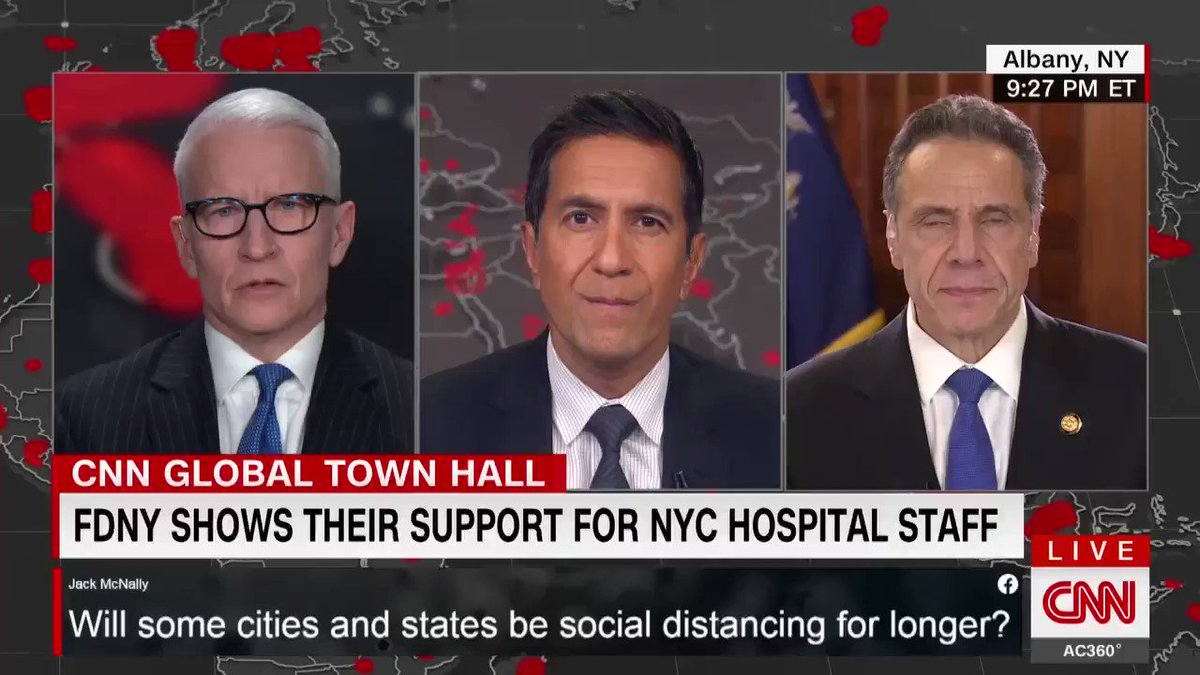 New York Gov. Andrew Cuomo: This state had purchased 17,000 ventilators, more than any other state in the nation, and they never got delivered. Because they were all coming from China, and 50 states are competing. ... We cant get any more. #CNNTownHall cnn.it/2R42aQn
